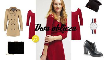 Czerwona sukienka - dwa oblicza