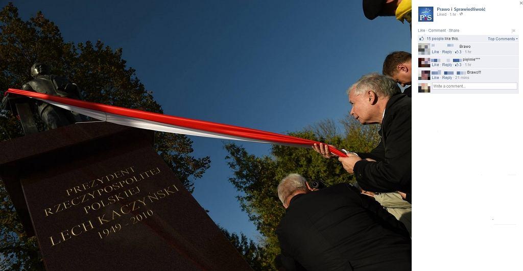 Odsłonięcie pomnika Lecha Kaczyńskiego w Siedlcach