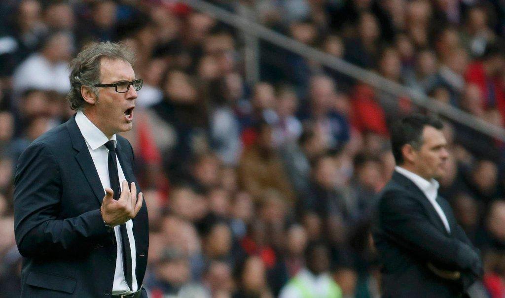 Trener PSG Laurent Blanc