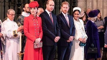Księżna Kate, książę William, książę Harry, księżna Meghan