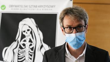 10.10.2020, Rybnik, Tim Nawrot podczas konferencji Smog - Szok.