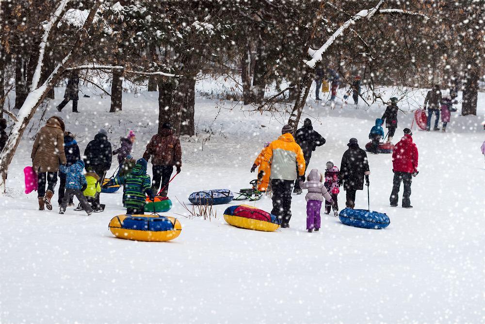 Rodzina na feriach zimowych