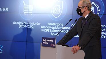 Konferencja premiera i ministra zdrowia w KPRM