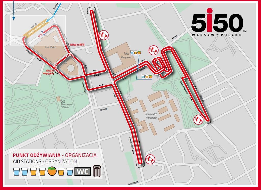 Trasa biegowa 5150 Warsaw Triathlon