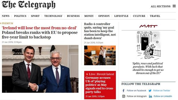 Brytyjskie media o wypowiedzi Jacka Czaputowicza ws. brexitu