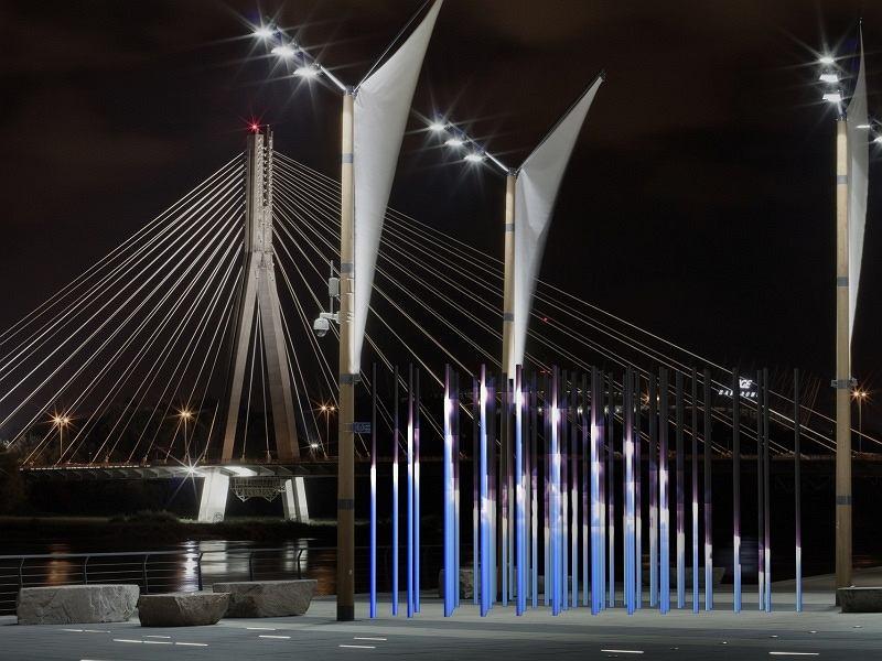 Rzeka światła. Wizualizacja wieczornego pokazu