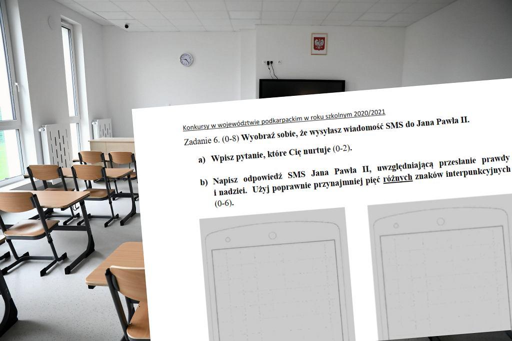 Zadanie na konkursie z jęz. polskiego