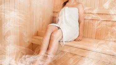 W saunie parowej temperatura wynosi ok. 40 - 50 stopni, a wilgotność sięga nawet 100 proc.