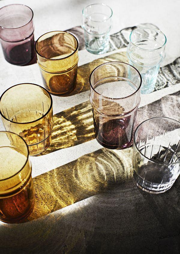 Szklanka Madam Stoltz z kolorowego szkła