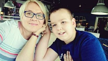 12-letni Janek z mamą Sylwią Mądry