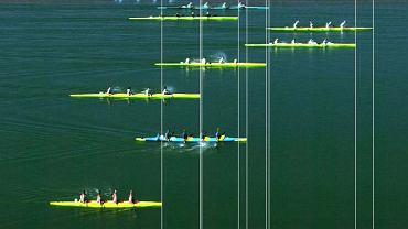 Sydney 2000. Polska żeńska osada K4 przypływa na czwartym miejscu na igrzyskach olimpijskich