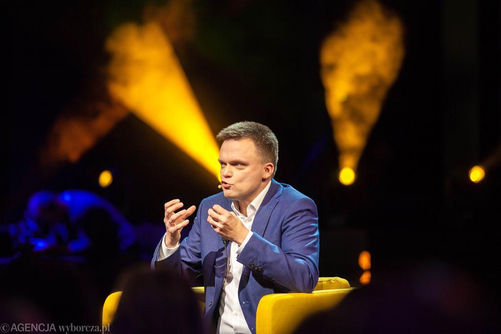 'Dlaczego i po co ?' - Szymon Hołownia ogłasza swój start w wyborach prezydenckich. Gdańsk, Teatr Szekspirowski, 8 grudnia 2019