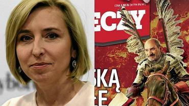"""Dominika Wielowieyska i okładka """"Do Rzeczy"""""""