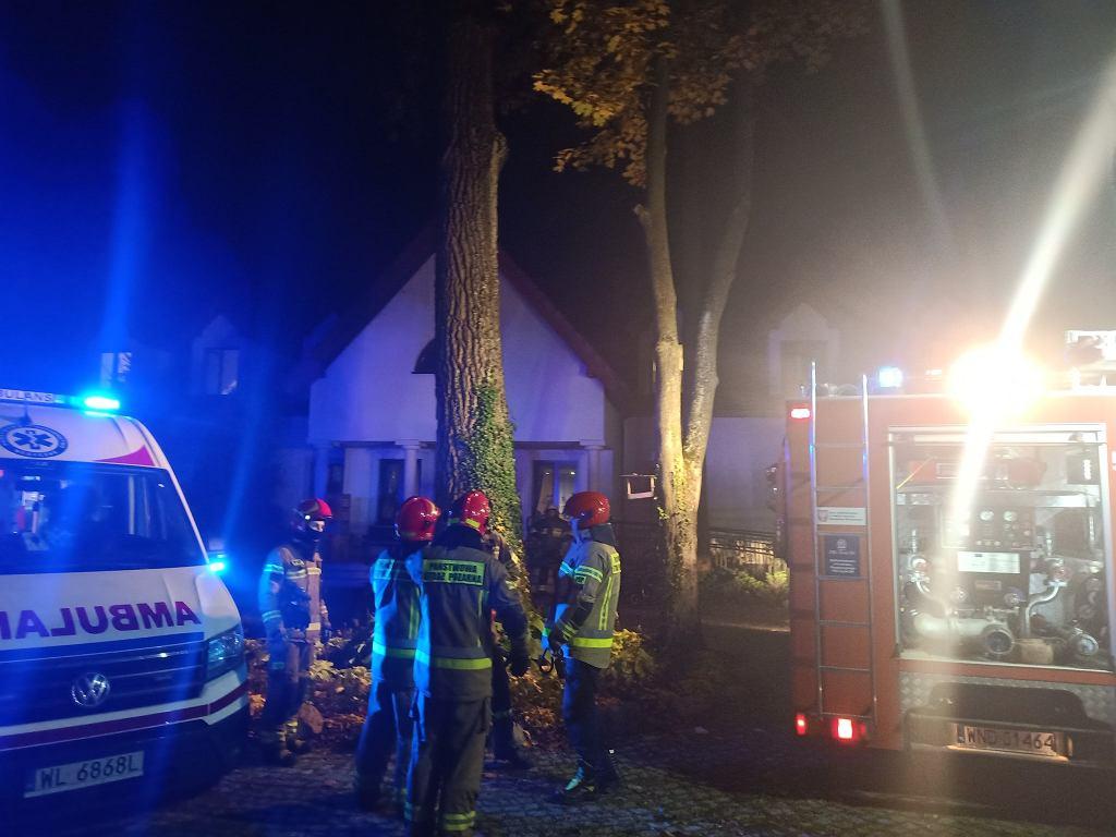 Pożar domu opieki społecznej w Siennicy