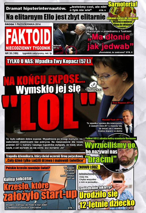 Faktoid, 1 października 2014, nr 35 (189) -  - Gazeta.pl