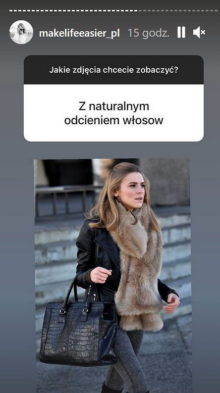 Kasia Tusk w naturalnym kolorze włosów
