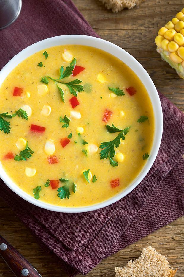 Irlandzka zupa chowder wersjka amerykańska z kukurydzą