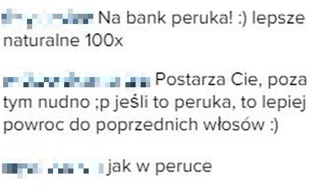 Komentarze fanów na Instagramie Mariny Łuczenko