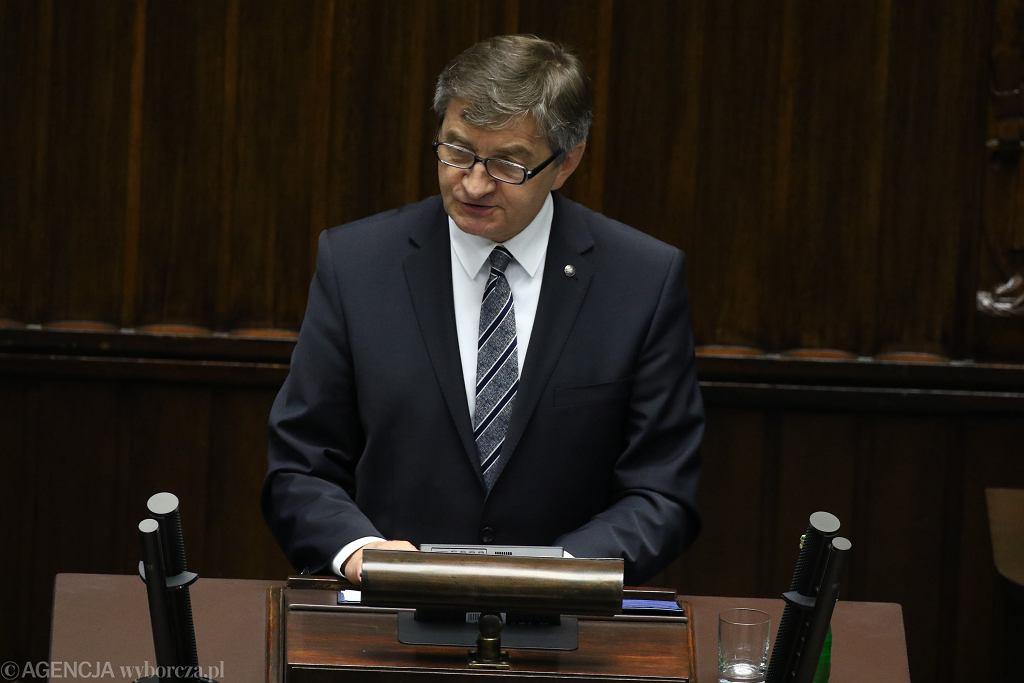 Marszałek Sejmu Marek Kuchciński podczas Zgromadzenia Parlamentarnego NATO