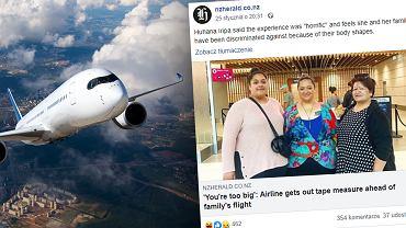 Kobiety musiały opuścić klasę biznes w samolocie. Powód? Waga