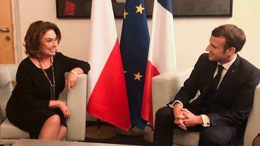 Małgorzata Kidawa-Błońska i Emmanuel Macron