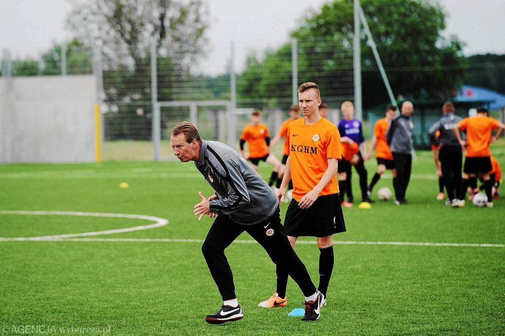 Richard Grootscholten podczas treningu w Akademii Piłkarskiej Zagłębia