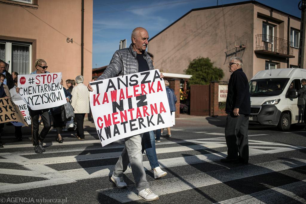 Protest w Brzezinach, październik 2019