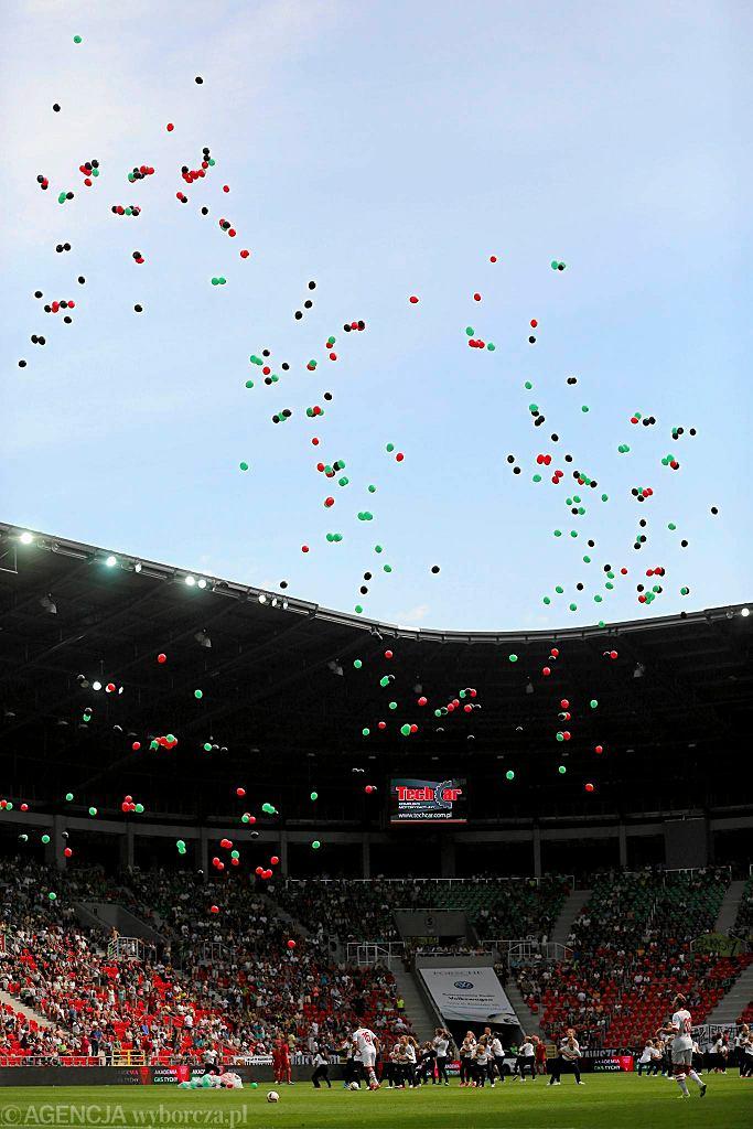 Otwarcie nowego stadionu piłkarskiego w Tychach