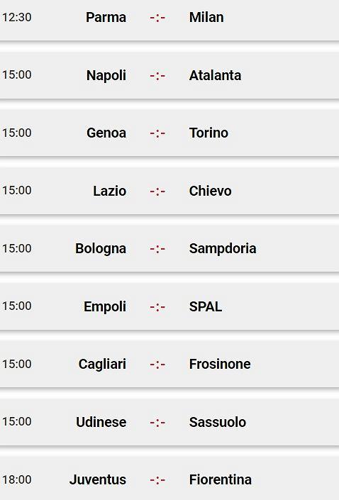 Sobotnie mecze Serie A
