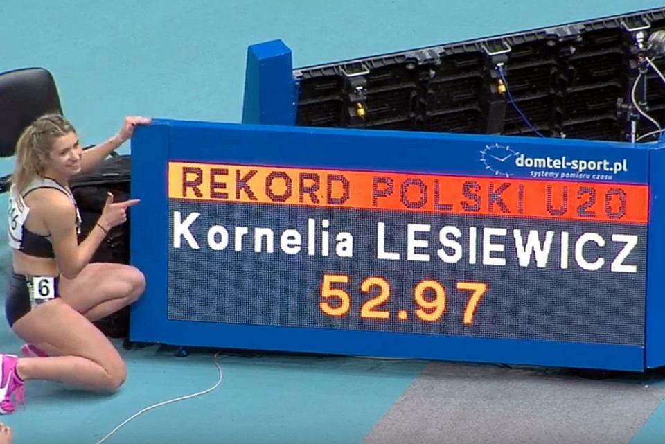 Kornelia Lesiewicz z AZS AWF Gorzów, nowa rekordzistka Polski juniorek w biegu na 400 metrów