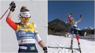 Therese Johaug wygrała bieg na 10 kilometrów stylem dowolnym na MŚ w Oberstdorfie z przewagą blisko minuty nad rywalkami
