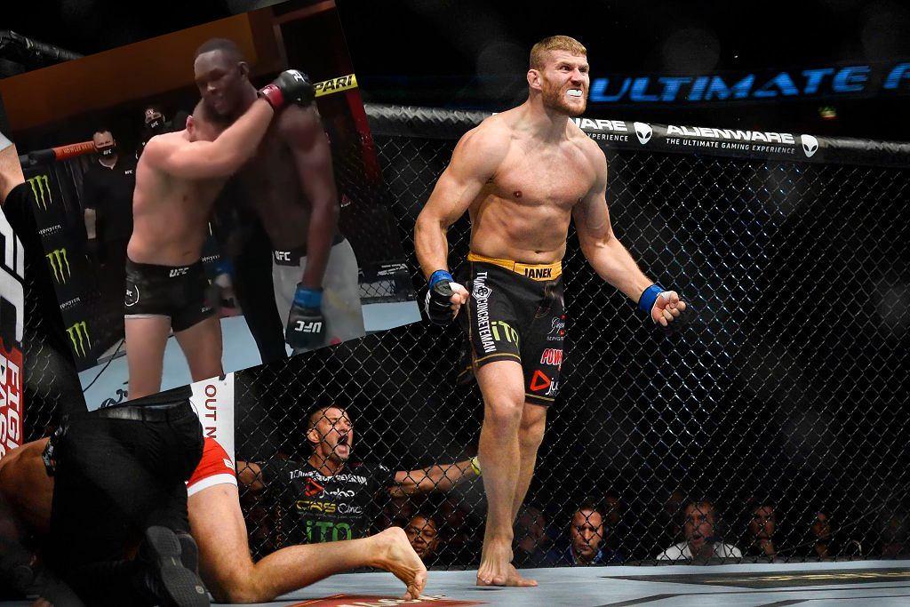 Jan Błachowicz i Israel Adesanya po gali UFC 259