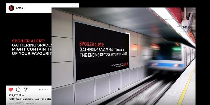 Netflix zachęca, żeby zostać w domu. Zamówił plakaty i billboardy ze spoilerami