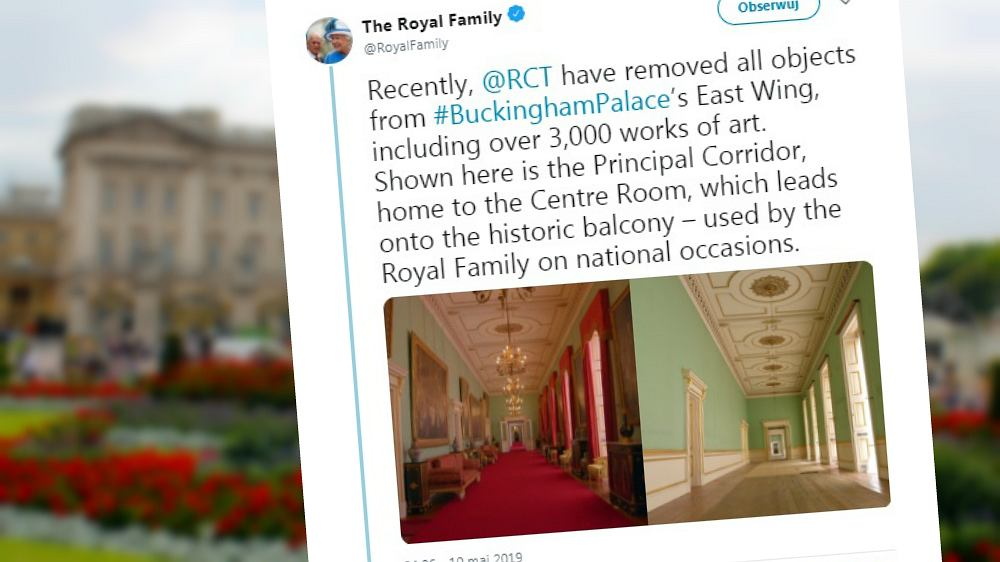 Trwa remont Pałacu Buckingham. Rodzina królewska udostępniła najnowsze zdjęcia
