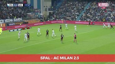 Milan wygrał 3:2 ze SPAL