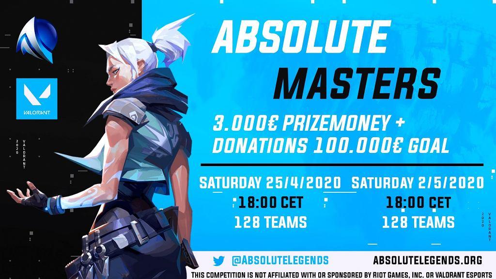 Logo turnieju Absolute Masters w grze Valorant, zorganizowanego przez Riot Games. Źródło: Twitter
