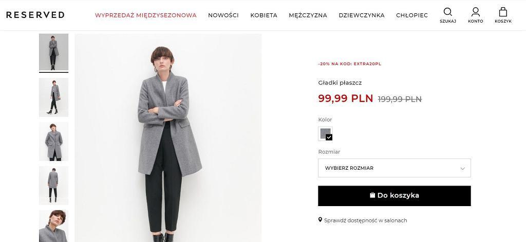 Reserved wyprzedaje hitowy płaszcz na wiosnę za niecałe 100 zł