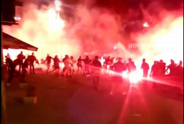 Walka chuliganów z Polski i Ukrainy
