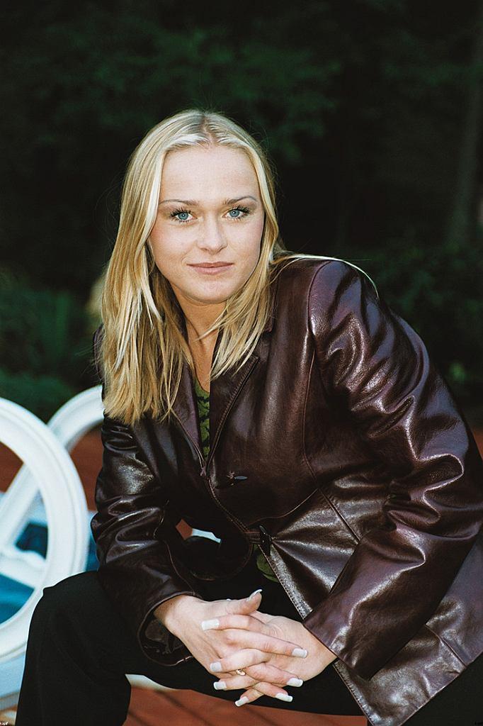 Monika Sewioło w 2002, konferencja prasowa 'Gulczas, a jak myślisz'