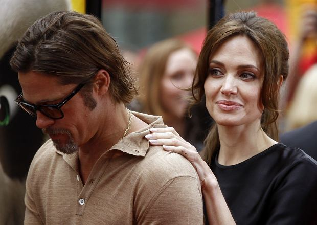 Brad i Angelina podczas premiery filmu 'Kung Fu Panda 2' w 2011 roku