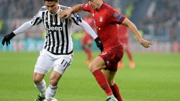Robert Lewandowski w meczu z Juventusem