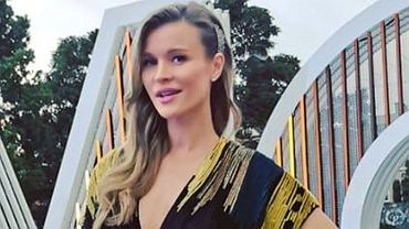 Joanna Krupa na planie 'Top Model'
