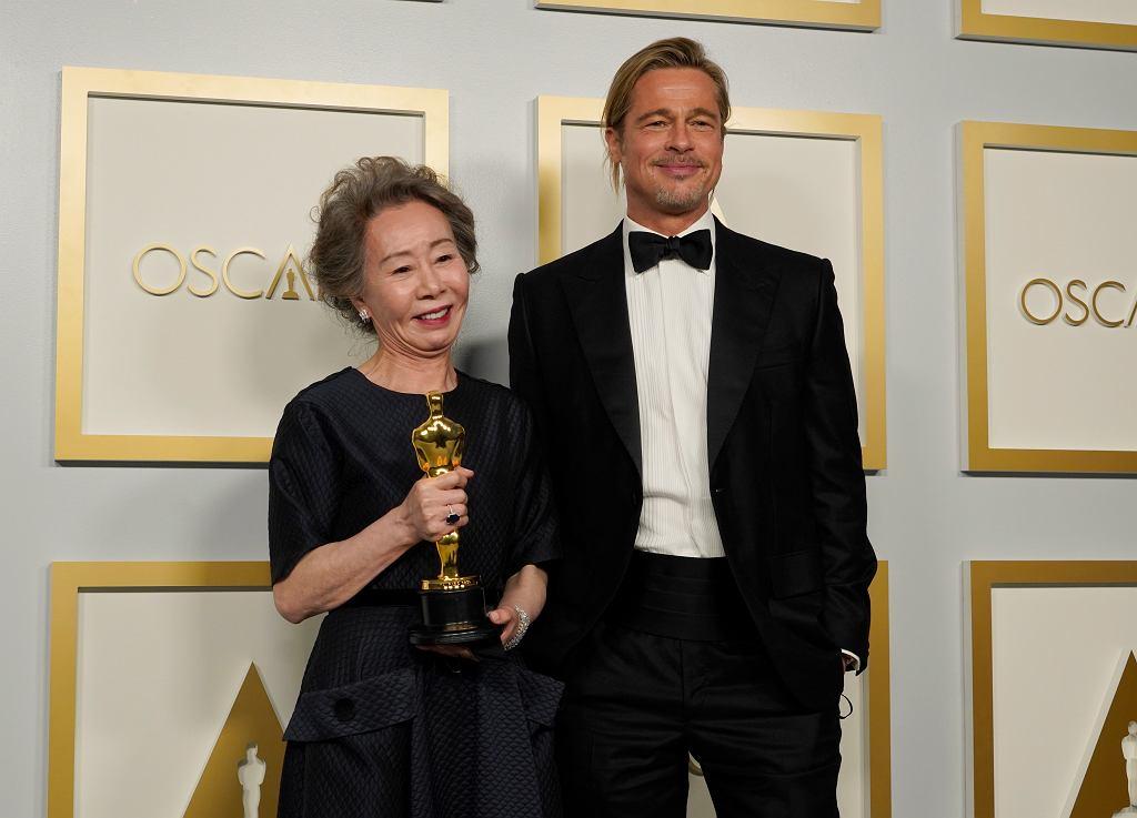 Brad Pitt po wręczeniu statuetki