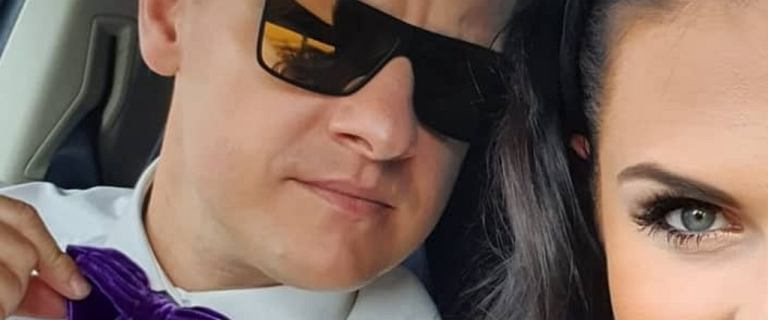 Marcin Mroczek z żoną wybrali się na wesele. Ich stroje? Przepiękne!