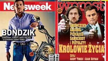 Okładki najnowszych numerów Newsweeka i Wprost