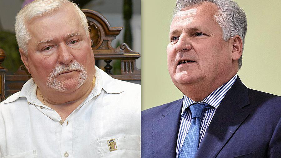 Lech Wałęsa i Aleksander Kwasniewski