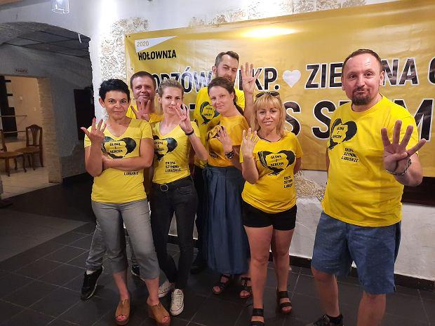 Sztab Szymona Hołowni w Gorzowie, wieczór wyborczy