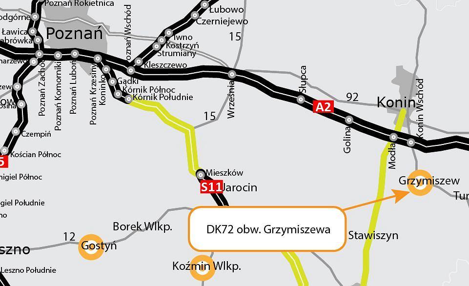 DK71, obwodnica Grzymiszewa