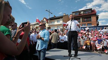 Wybory prezydenckie 2010. Spotkanie Andrzeja Dudy w Starachowicach