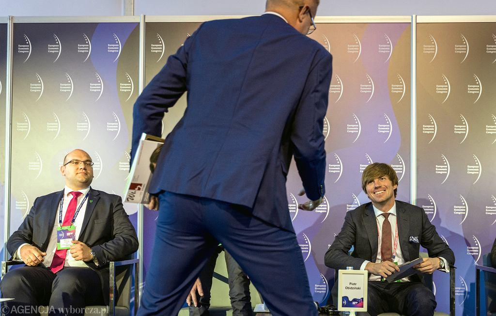 Piotr Obidziński (z prawej) podczas 11 Europejskiego Kongresu Gospodarczego